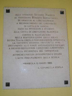 Lapide Liceo Mirandola