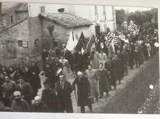 funerali Partigiani via Serafina